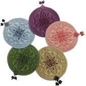 국산정품 - 고급 꽃문양 컵받침 (B형)