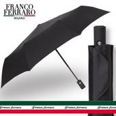 프랑코페라로 3단 블랙 완전자동 우산
