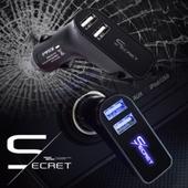 시크릿 고속 차량용 충전기/USB소켓/LED라이트