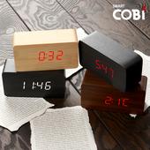 [우드탁상시계1295] LED 우드탁상시계/디지털시계/무소음시계