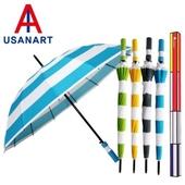 우산아트 60 화이트스트라이프 우산
