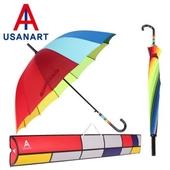 우산아트 55 무지개 곡자손 우산