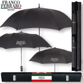 프랑코페라로 블랙 75+2단+3단 패밀리3P 우산세트