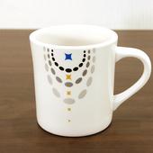 국산 패턴 화이트 머그컵