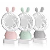 LED 미니 휴대용선풍기(토끼)/거치대 USB충전