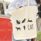 고양이 디자인 에코백