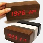 (고품질)우드탁상시계달력-시계온도계 동시에~