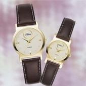 STW-1107 클래식심플 가죽밴드 남녀시계