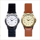 STW-1017 클래식 심플 가죽밴드 손목시계