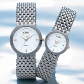 STW-1074 Ollin 클래식 메탈 남녀 손목시계