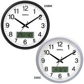 로니카 온도계습도계 무소음벽시계 R350BM