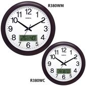 로니카 우드엔틱 온도계습도계벽시계 R380WM