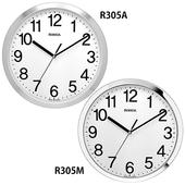 로니카 메탈크롬 정통형 무소음벽시계 R305M