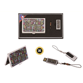 [USB세트/명함지갑/명함지갑세트] 한글자모음자개명함+가띠메탈자개USB 8GB