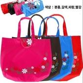 [시장가방] 장바구니-꽃 지갑형(특대형)