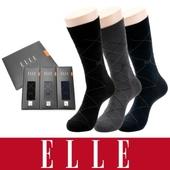 [엘르]남성 신사양말 3족 세트(고신축 사계절용)
