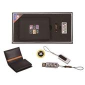 [명합지갑세트/USB세트] 신문자도자개가죽명함지갑+가띠메탈자개USB(8GB~64GB)