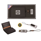 [명합지갑세트/USB세트] 삼족오자개가죽명함지갑+가띠메탈자개USB(8GB~64GB)