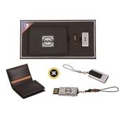 [명합지갑세트/USB세트] 쌍학자개가죽명함지갑+가띠메탈자개USB(8GB~64GB)