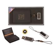 [명합지갑세트/USB세트] 한글자모음자개가죽명함지갑+가띠메탈자개USB(8GB~64GB)