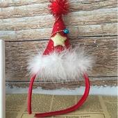 크리스마스 산타모자 머리띠 (아동용)