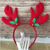 크리스마스 빨간 루돌프 머리띠 (아동용)