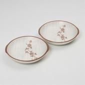 [접시세트] 백야화 핑크 귀접시 세트(小 2P)