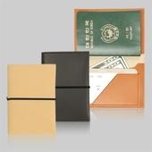 클래식 레더 여권지갑