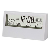 DYNN 가로형 투명 LCD 날씨시계