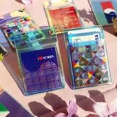 메이드인 태극기 홀로그램 세로형 카드지갑