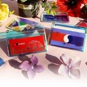 메이드인 태극기 홀로그램 가로형 카드지갑