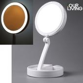 아워리빙 LED 양면 탁상거울