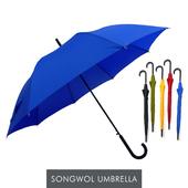 송월우산 SW60 곡자 컬러무지 장우산 s