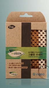 친환경 옥수수 그물망 수세미 1P