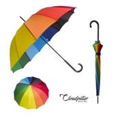 클라우드필라 무지개우산(곡자)/장우산.자동우산