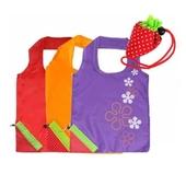 딸기장바구니 시장가방 휴대용가방 비닐대용