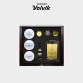 볼빅 비비드 XT 3구 볼마커 순금 네임택 선물세트