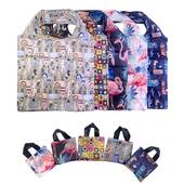 포켓형 패턴디자인 시장가방(시장바구니)