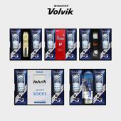 볼빅 S3 6구 선물세트 (3PC) 화이트 우레탄 골프공 볼마커 인쇄