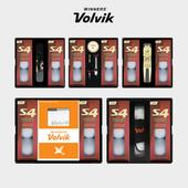 볼빅 S4 6구 선물세트 (4PC) 화이트 우레탄 골프공 볼마커 인쇄