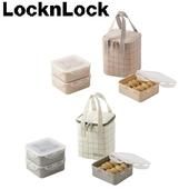 locknlock 3단 찬합세트 체크 정사각(L)_CB856