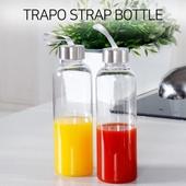 [트라포] 스트랩 투명보틀 550ml TB02(냉온전용)