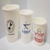 종이컵 자판기 6 5온스 칼라 인쇄 180g 국내산 천연펄프지 식품용 무형광