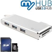 마이허브 5포트콤보 USB3.0 알루미늄허브 UA3-AS