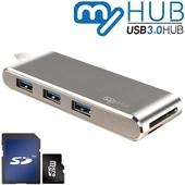 마이허브 5포트콤보 C타입 USB3.0 알루미늄허브 UA3-CS