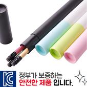 인젝션 파스텔연필 3P 바닐라원통케이스