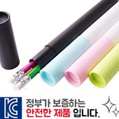 인젝션 육각지우개연필 3p 바닐라원통케이스
