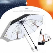 나무 3단 양우산 자외선차단 우산/암막/양산겸용/리버설
