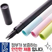 인젝션 흑목원형지우개연필 3p 바닐라원통케이스