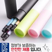 인젝션 파스텔연필 5p 바닐라원통케이스
